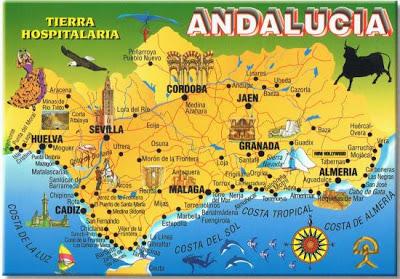 kart andalucia Smaken av Spania: Andalucia. – Velkommen til en sunn og frisk  kart andalucia